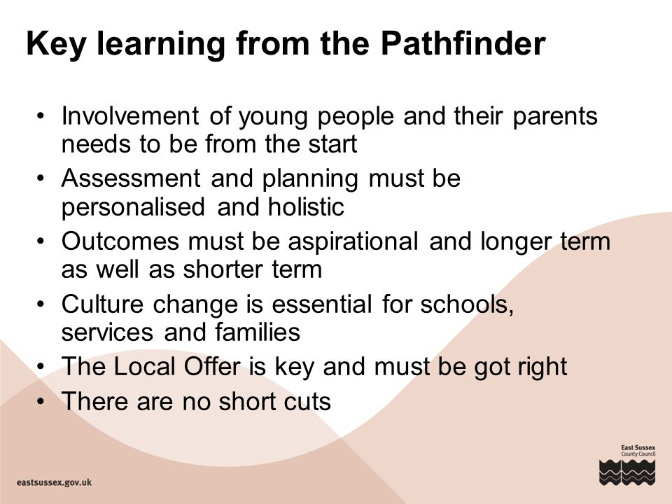 Key learning from the Pathfinder