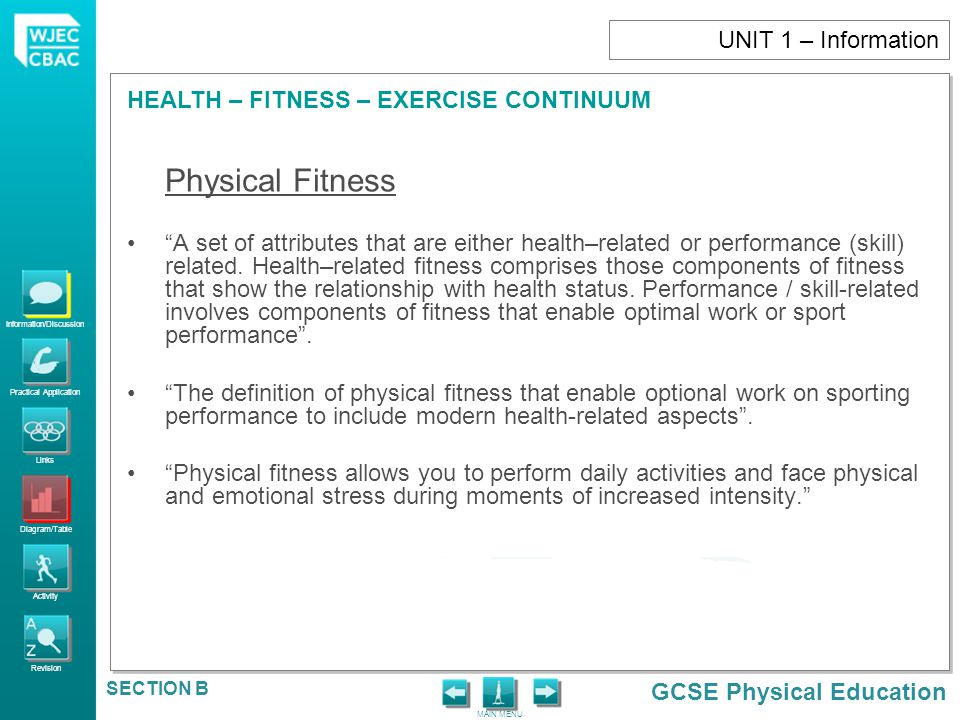 UNIT 1 – Information Physical Fitness.