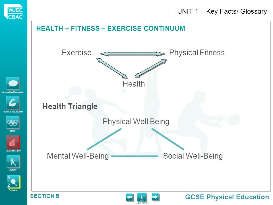 Exercise Physical Fitness Health Health Triangle Physical Well Being