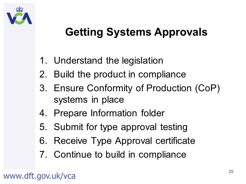 Getting Systems Approvals