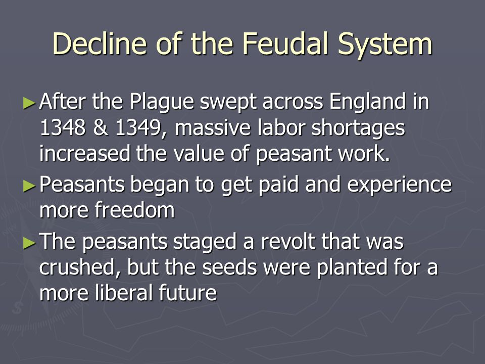 Decline of the Feudal System