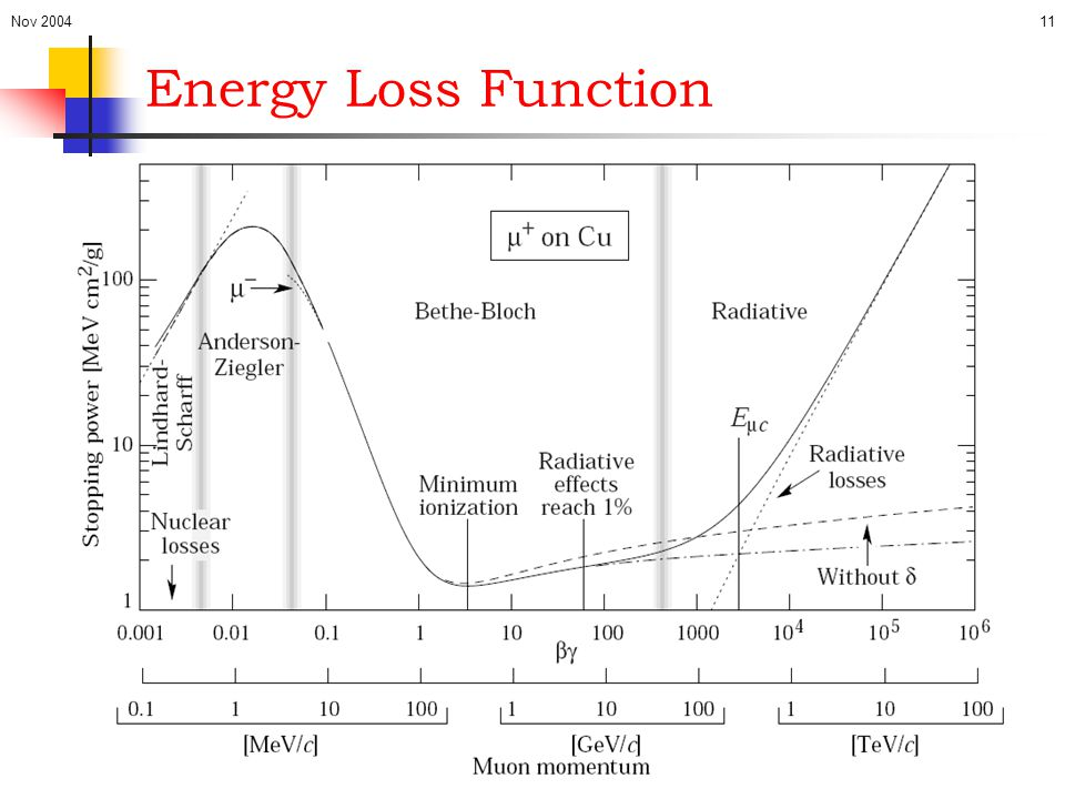 Nov 2004 Energy Loss Function