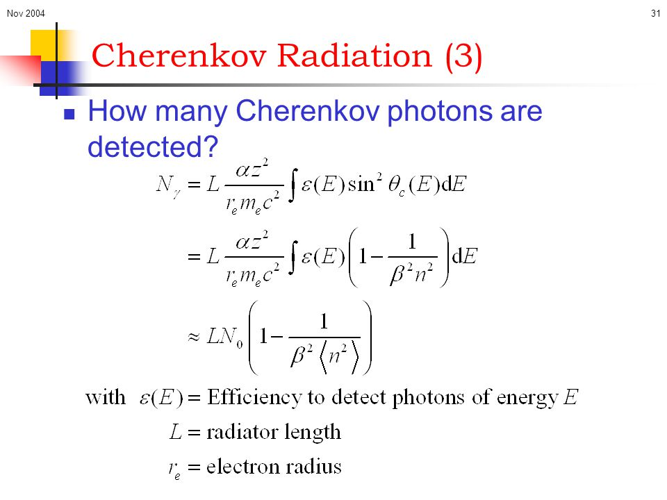 Cherenkov Radiation (3)