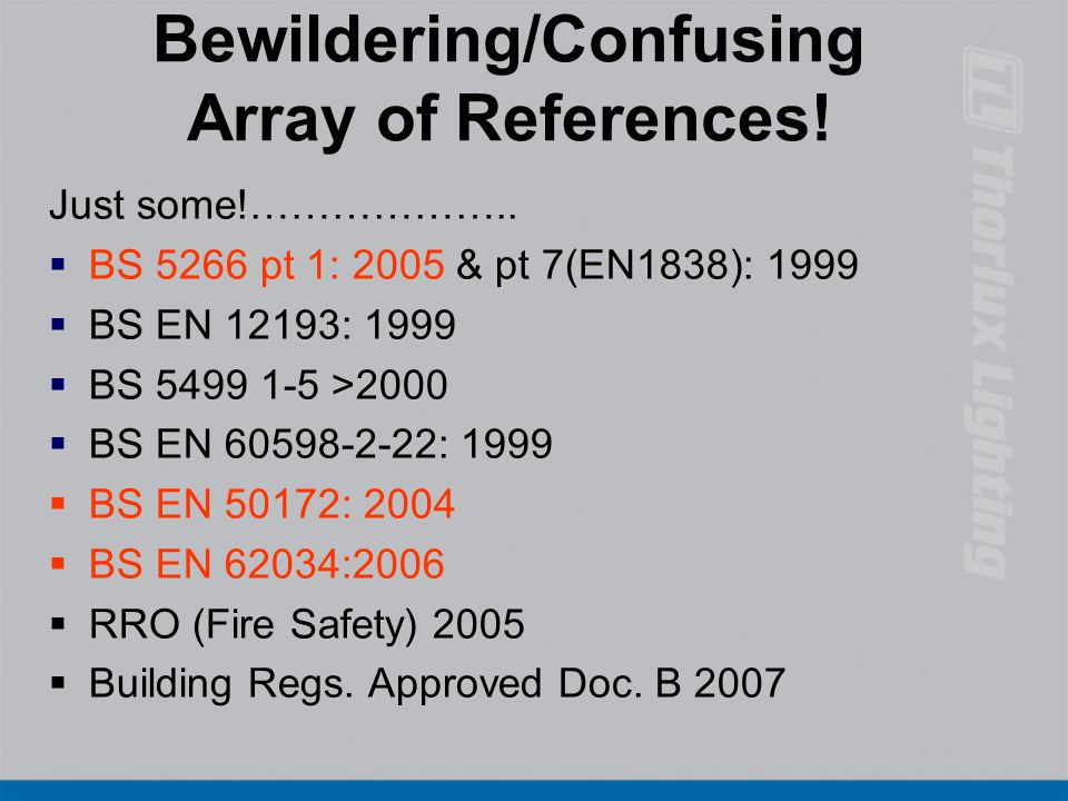 4 Bewildering/Confusing ...  sc 1 st  SlidePlayer & Emergency Lighting Chris Holder Thorlux Lighting - ppt download