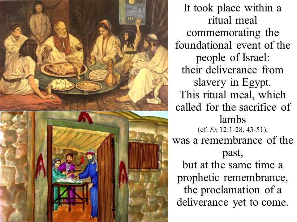 their deliverance from slavery in Egypt.