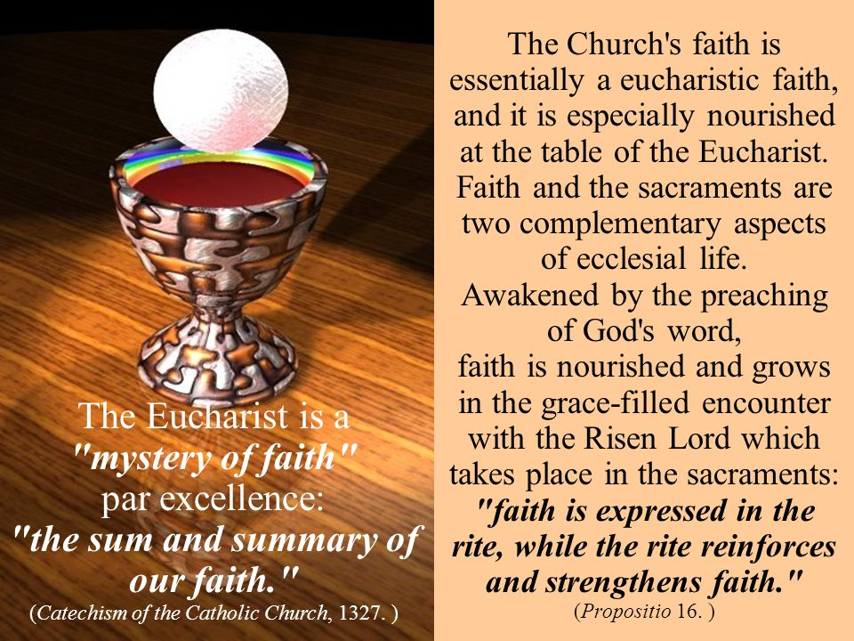 the sum and summary of our faith.