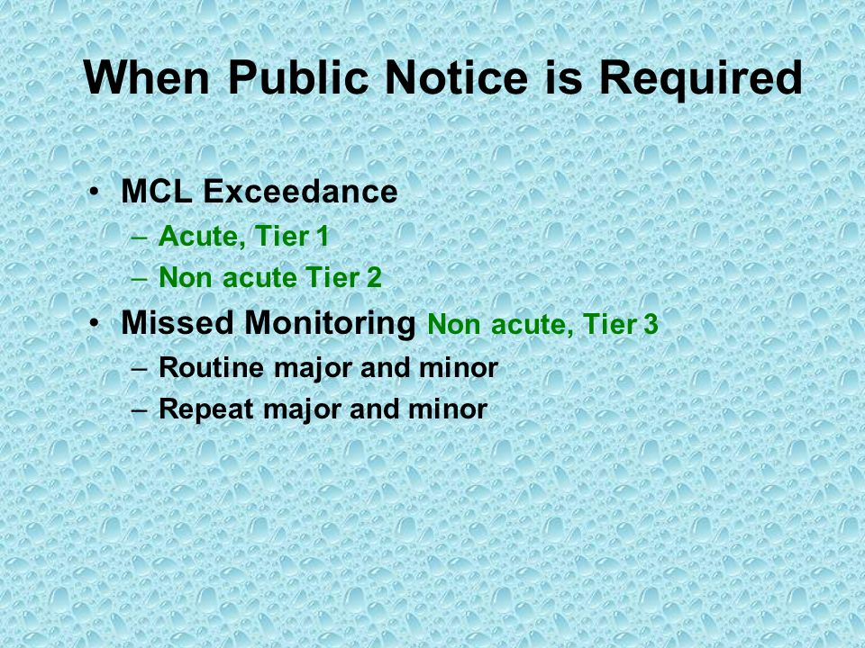 When Public Notice is Required