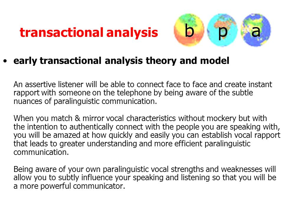 How Transactional Analysis can help you speak Part One