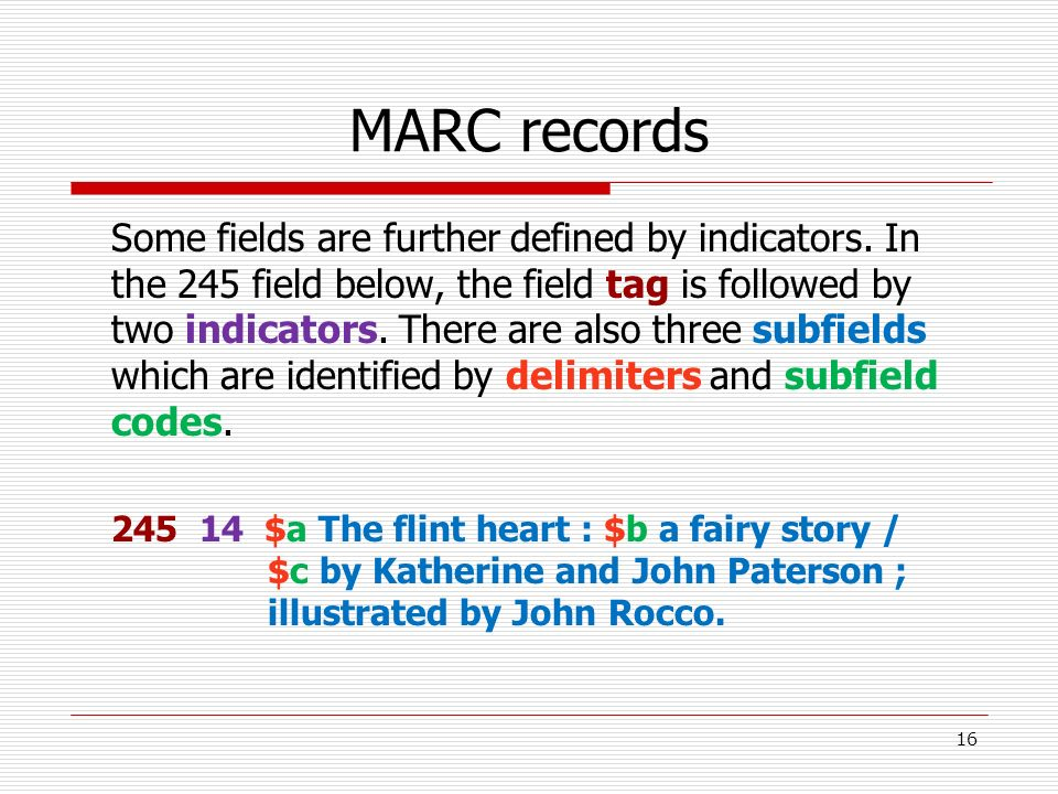 MARC records