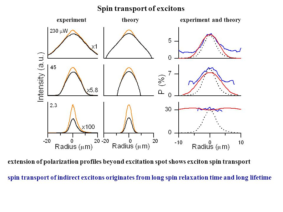 Spin transport of excitons