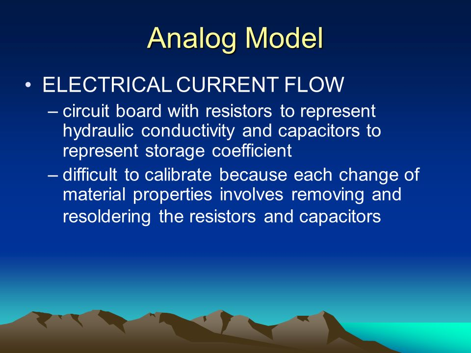 Analog Model ELECTRICAL CURRENT FLOW