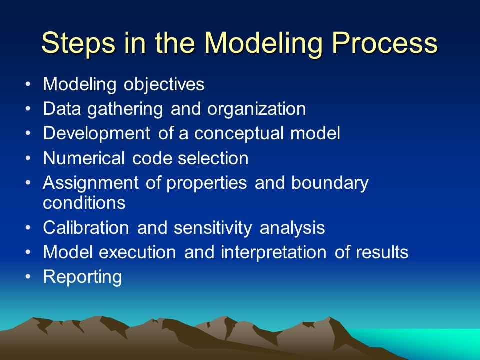 Steps in the Modeling Process