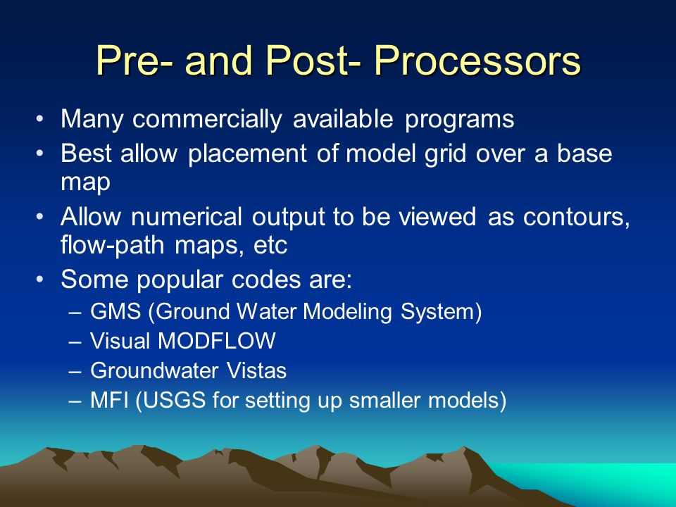 Pre- and Post- Processors