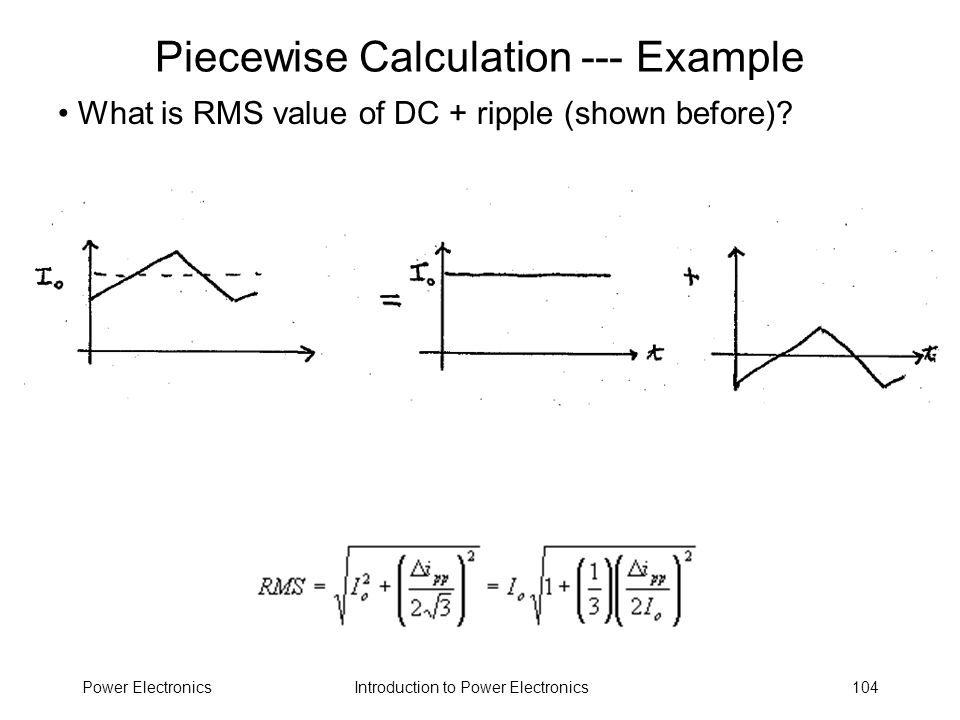 Piecewise Calculation --- Example