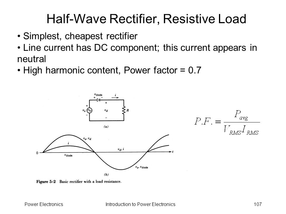 Half-Wave Rectifier, Resistive Load