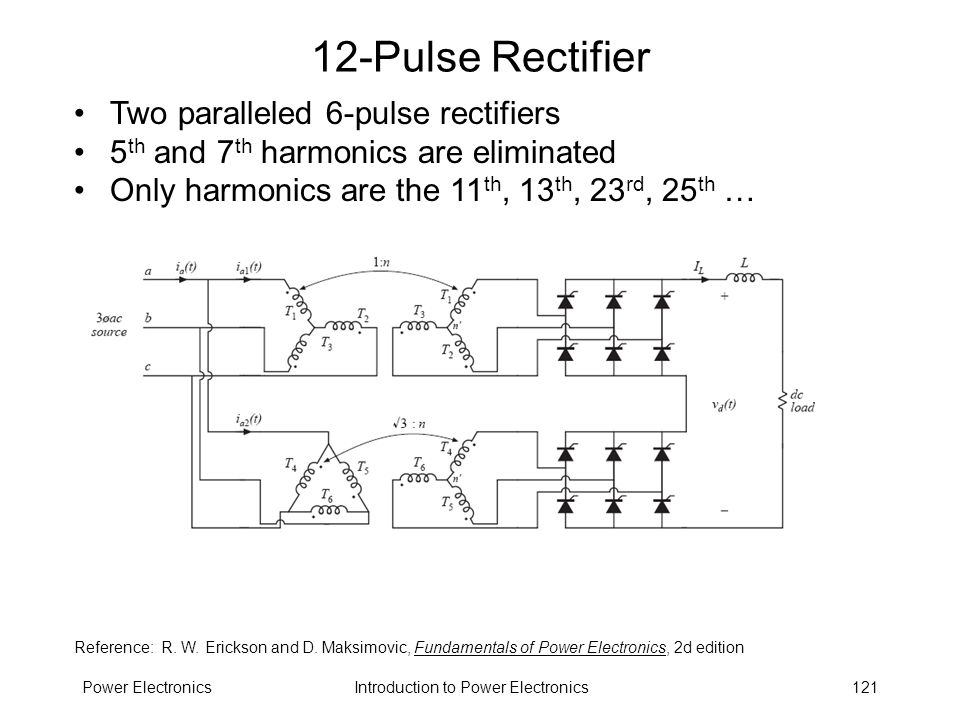 12-Pulse Rectifier Two paralleled 6-pulse rectifiers