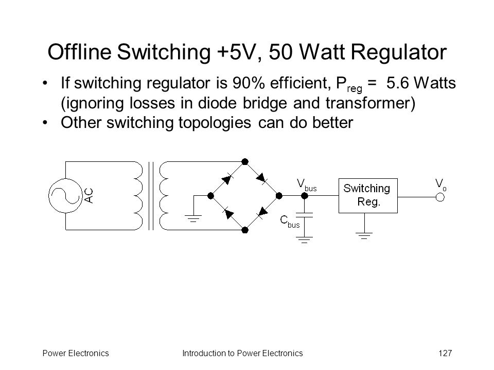 Offline Switching +5V, 50 Watt Regulator