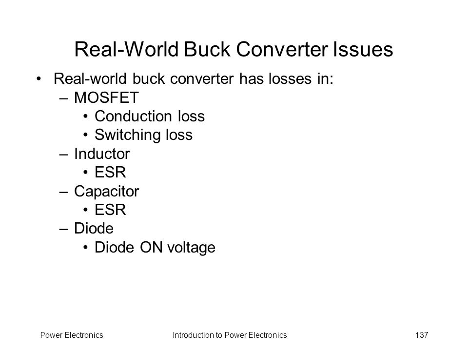Real-World Buck Converter Issues