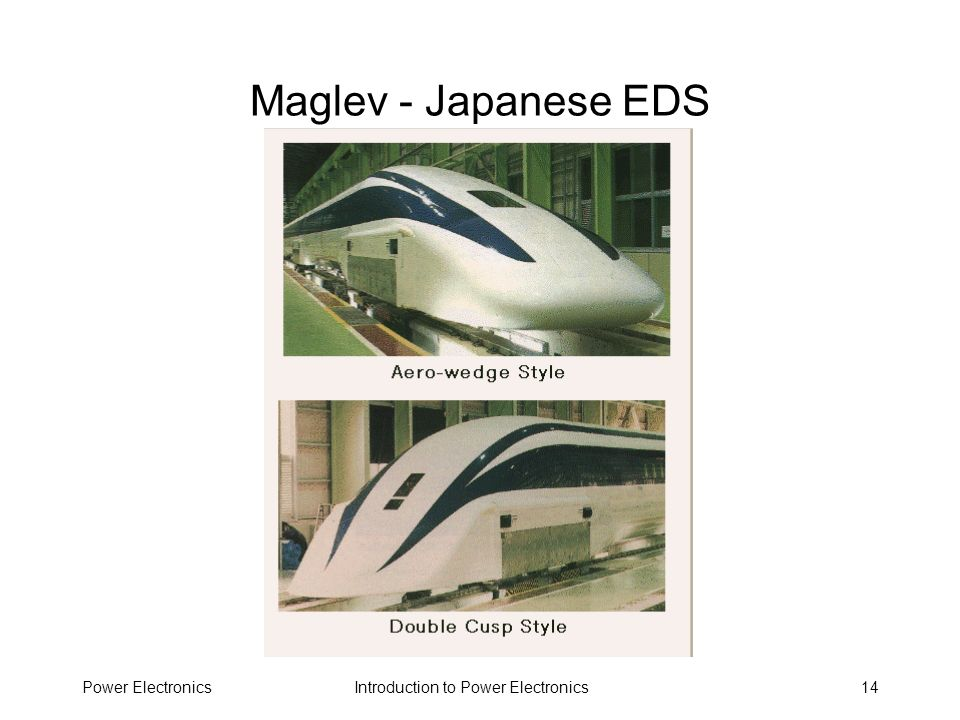 Maglev - Japanese EDS Power Electronics