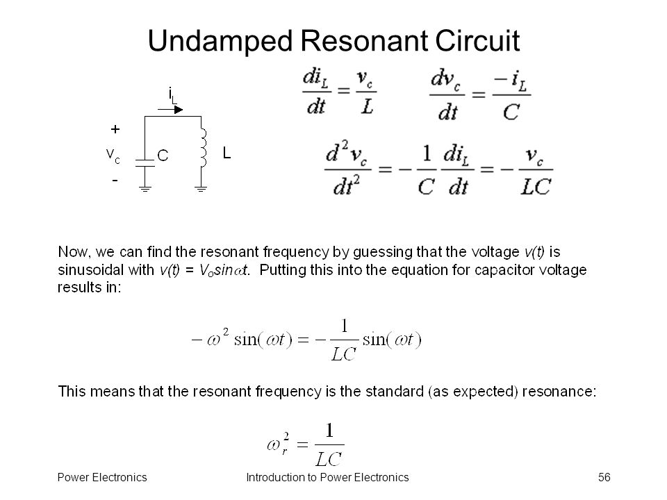 Undamped Resonant Circuit