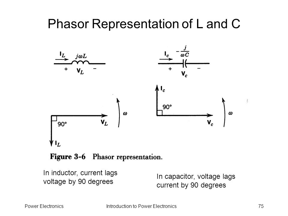 Phasor Representation of L and C