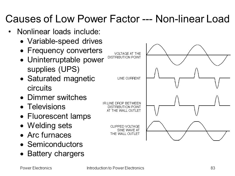 Causes of Low Power Factor --- Non-linear Load