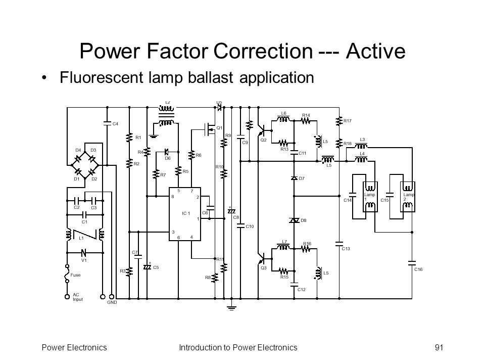Power Factor Correction --- Active