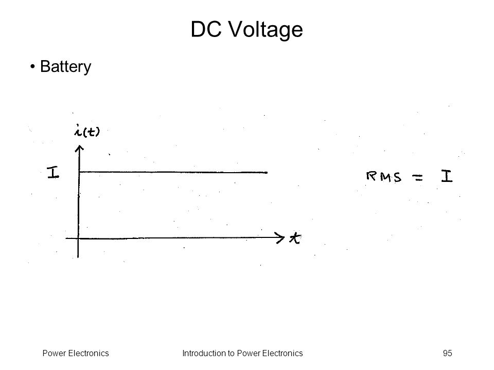 DC Voltage Battery Power Electronics