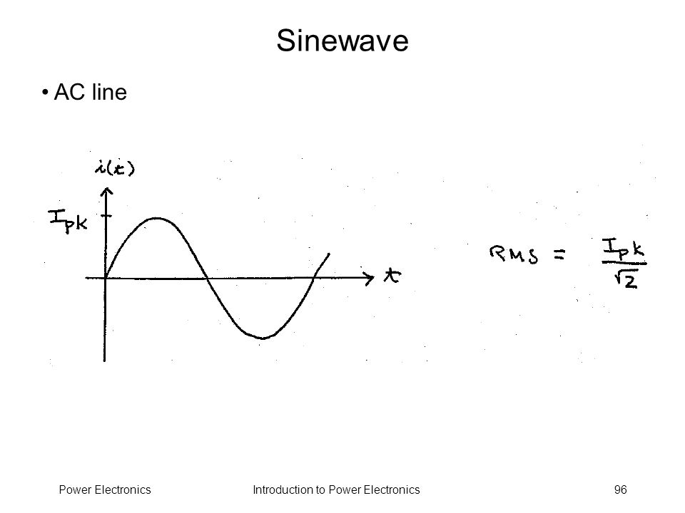 Sinewave AC line Power Electronics