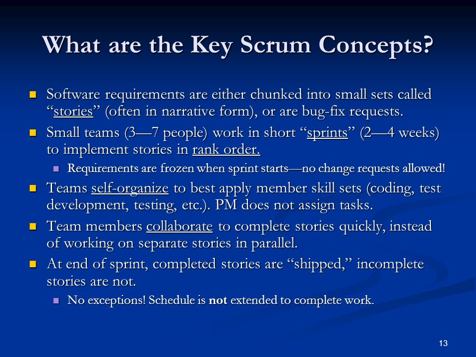 What are the Key Scrum Concepts