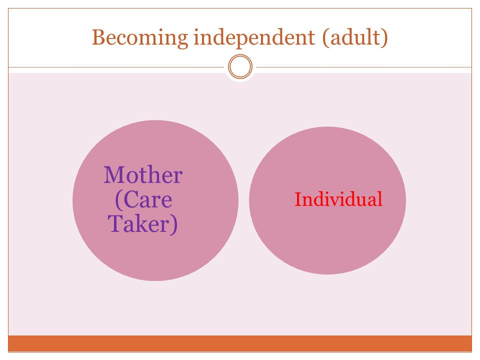 Becoming independent (adult)