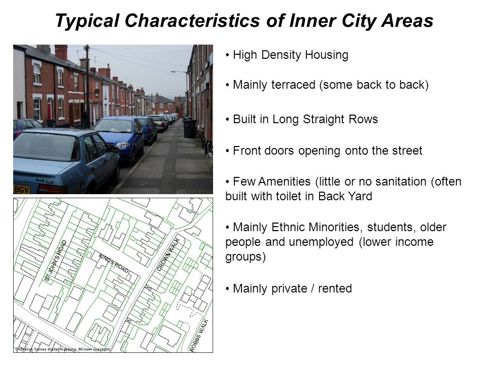 Typical Characteristics of Inner City Areas