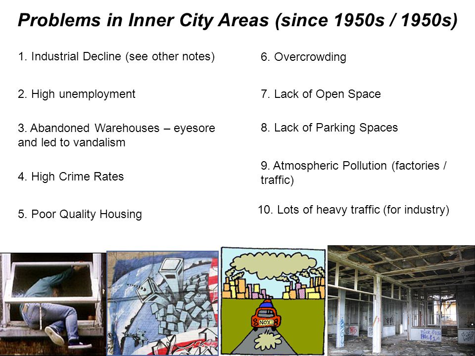 Problems in Inner City Areas (since 1950s / 1950s)