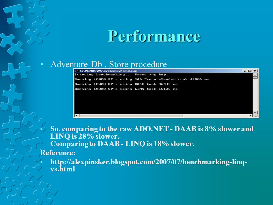 Performance Adventure Db , Store procedure