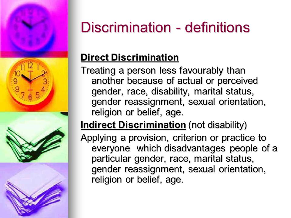 Discrimination - definitions