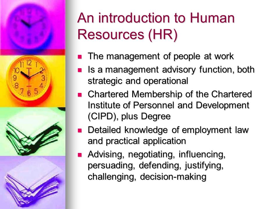An introduction to Human Resources (HR)