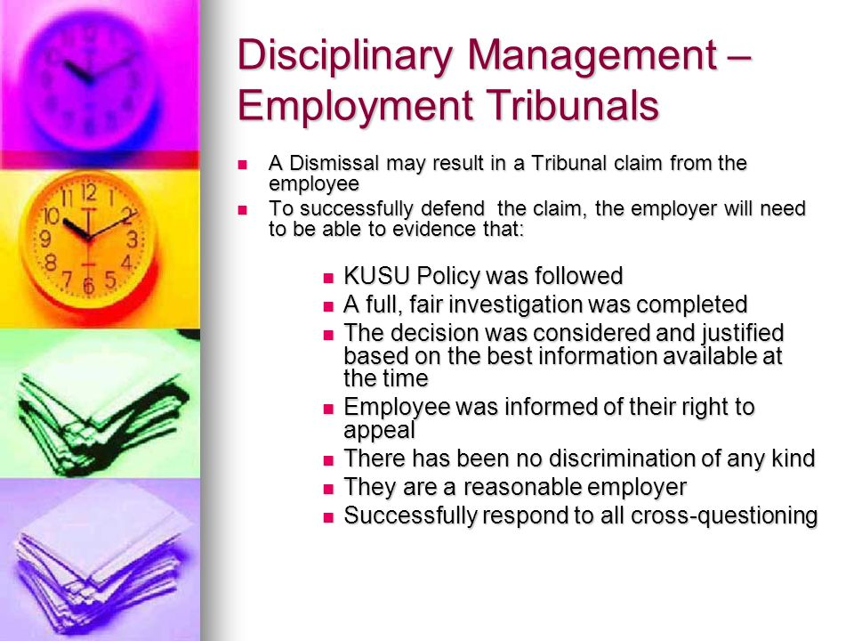 Disciplinary Management – Employment Tribunals