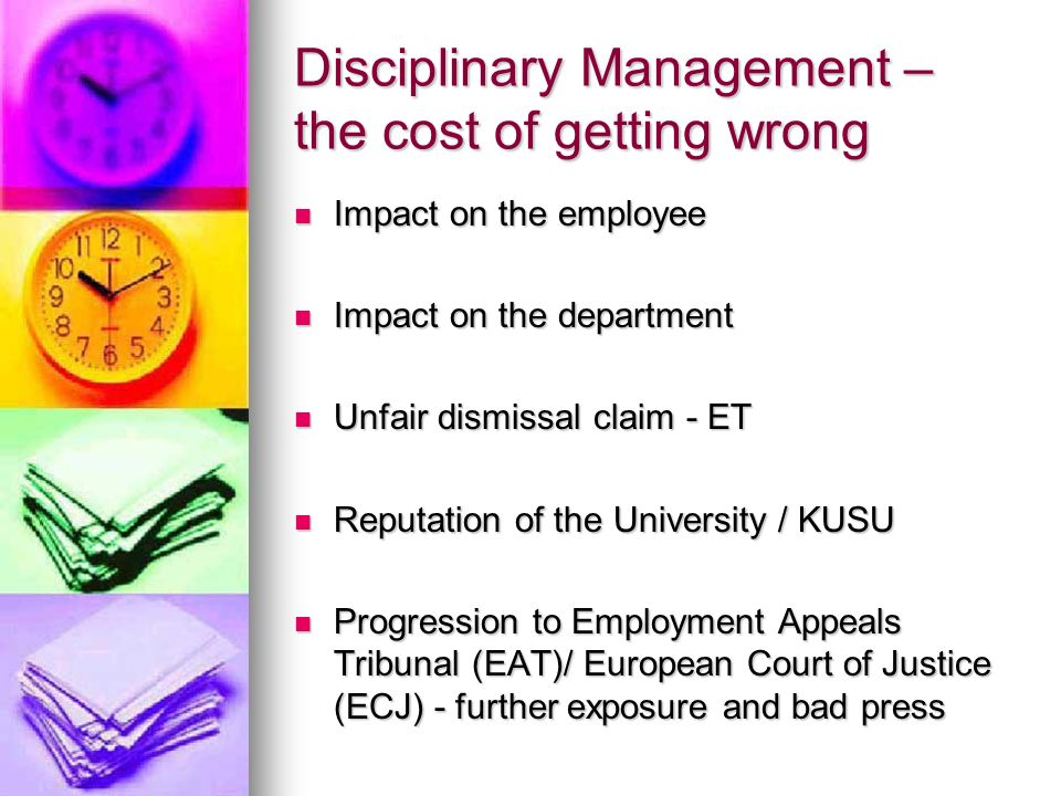 Disciplinary Management – the cost of getting wrong