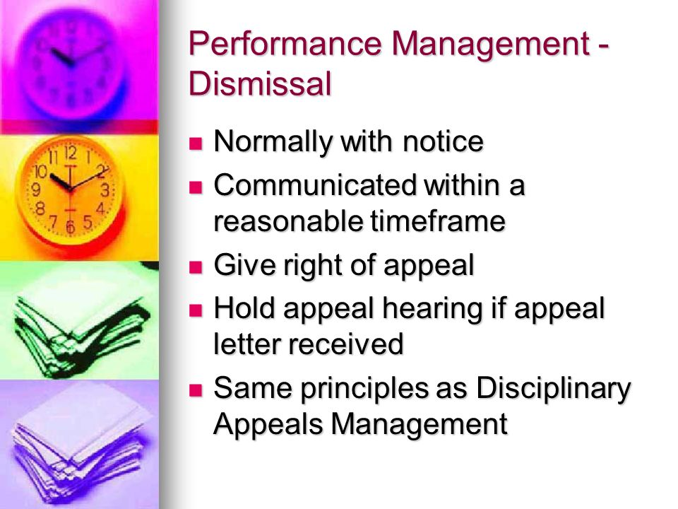 Performance Management - Dismissal