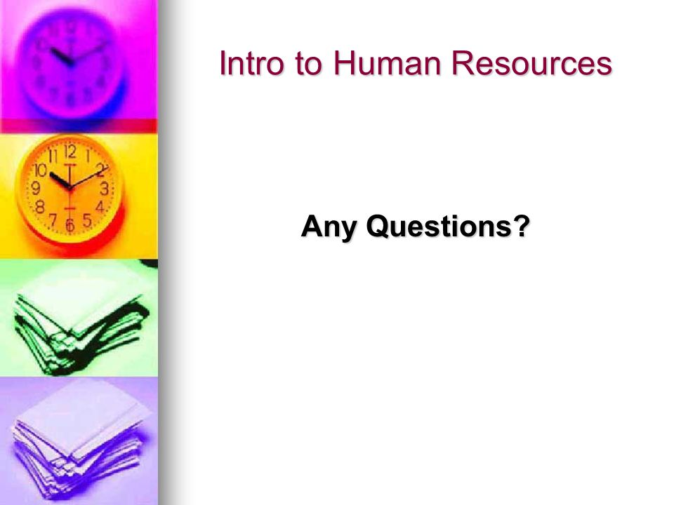 Intro to Human Resources