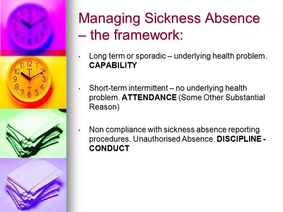 Managing Sickness Absence – the framework: