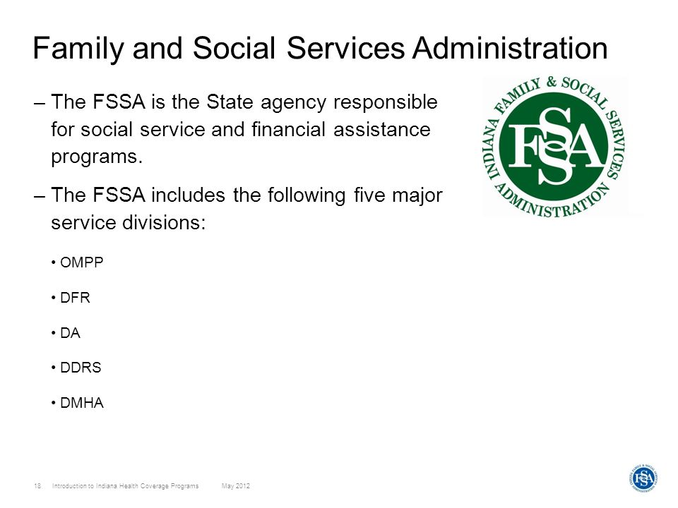 Family and Social Services Administration