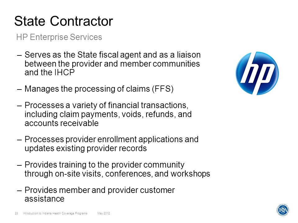 State Contractor HP Enterprise Services