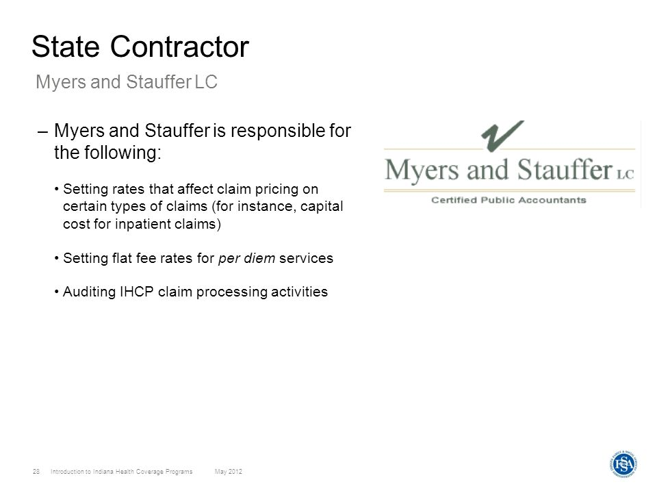 State Contractor Myers and Stauffer LC