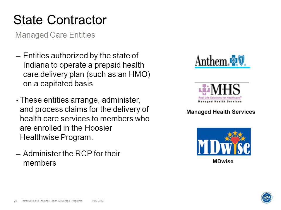 State Contractor Managed Care Entities