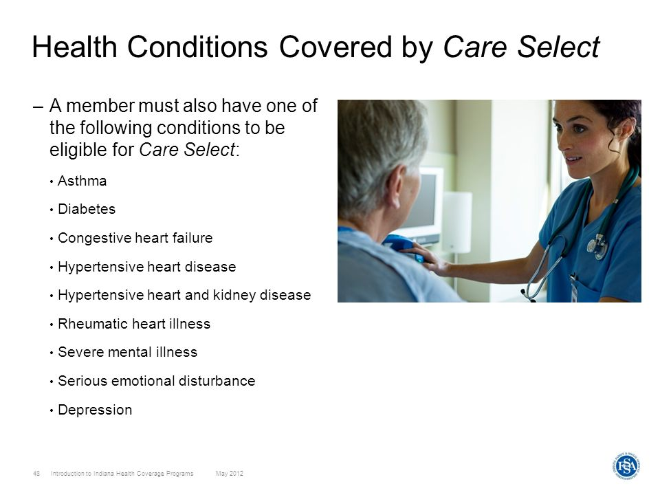 Health Conditions Covered by Care Select