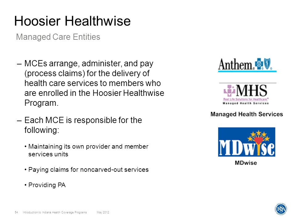 Hoosier Healthwise Managed Care Entities