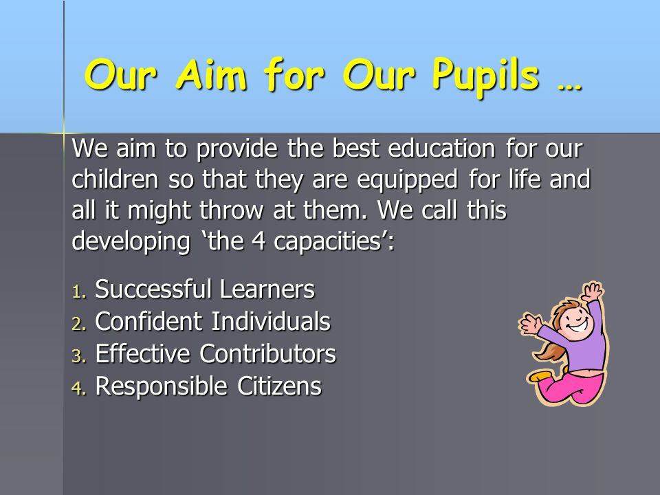 Our Aim for Our Pupils …