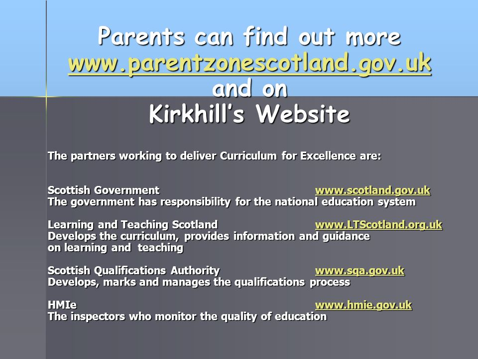 Parents can find out more
