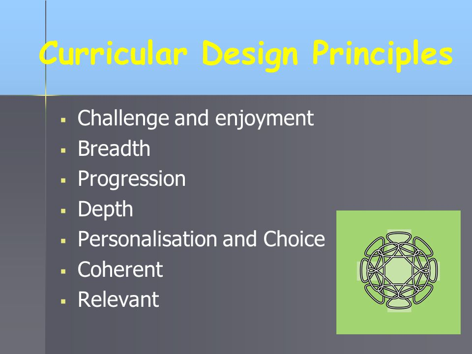 Curricular Design Principles